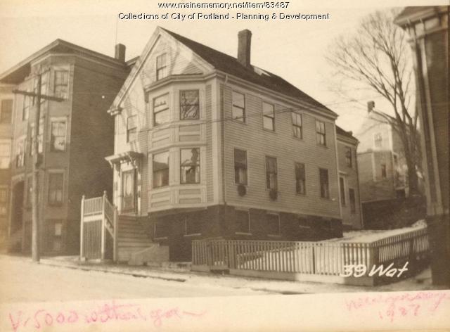 35-37 Waterville Street, Portland, 1924