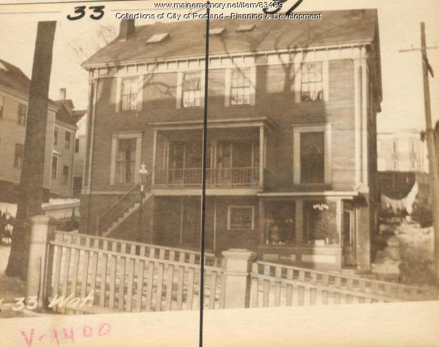 33 Waterville Street, Portland, 1924