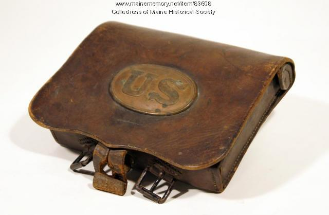 Soldier's  cartridge box, ca. 1863