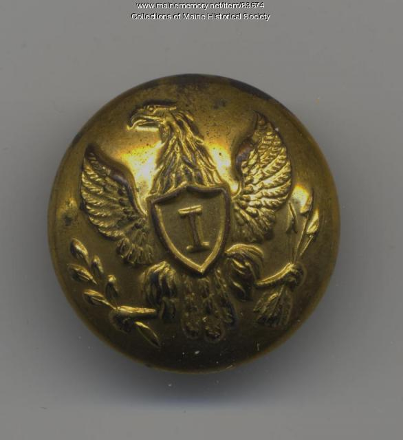 Civil War infantry button, ca. 1861