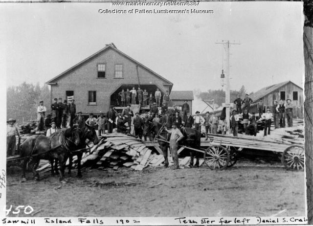 Saw Mill, Island Falls, Maine, 1902