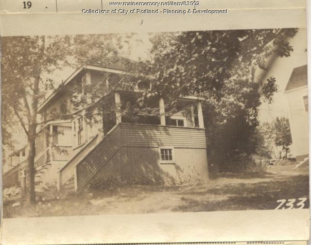 Baker property, N. Side Torrington Avenue, Peaks Island, Portland, 1924