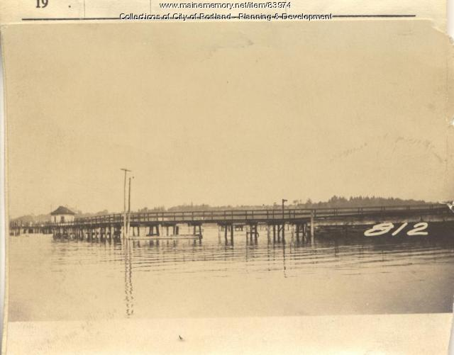 Casco Bay Wharf Co. property, Trefethen, Peaks Island, Portland, 1924