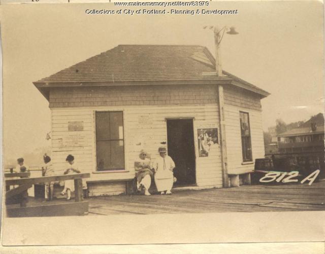 Casco Bay Wharf Co. property, Trefethen Landing, Peaks Island, Portland, 1924