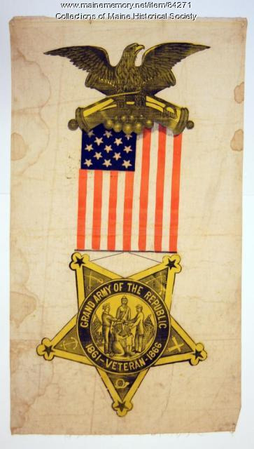 Grand Army of the Republic banner, ca. 1885