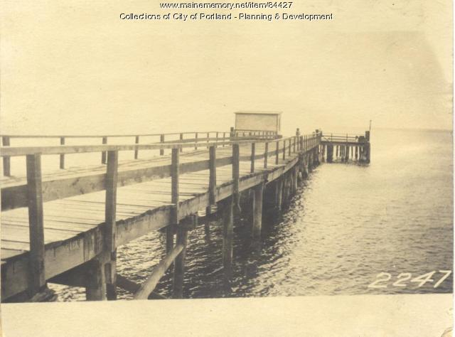 Casco Bay Lines property, Doughty Street, Long Island, Portland, 1924