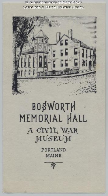 Bosworth Memorial Hall pamphlet, Portland, ca. 1960