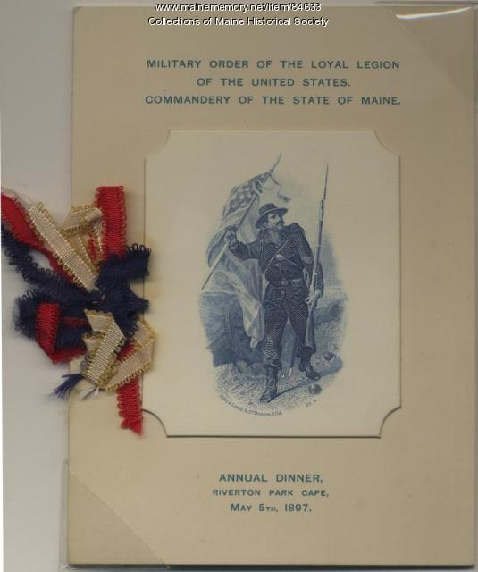 MOLLUS annual dinner program, Portland, 1897