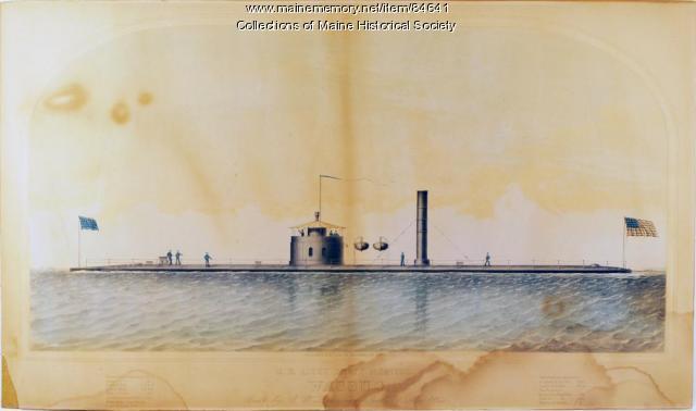 Gunboat 'Wassuc,' Portland, ca. 1864