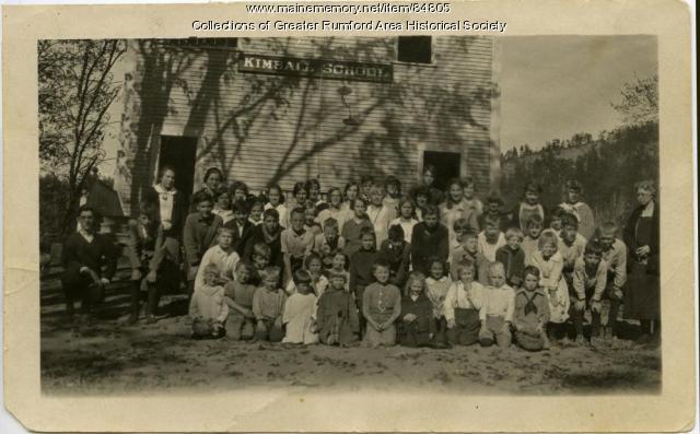 Kimball School Class Picture 1924-1925, Rumford, Maine