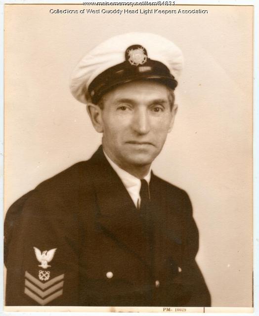 Lightkeeper Hoyt Cheney, West Quoddy Head, ca.1945