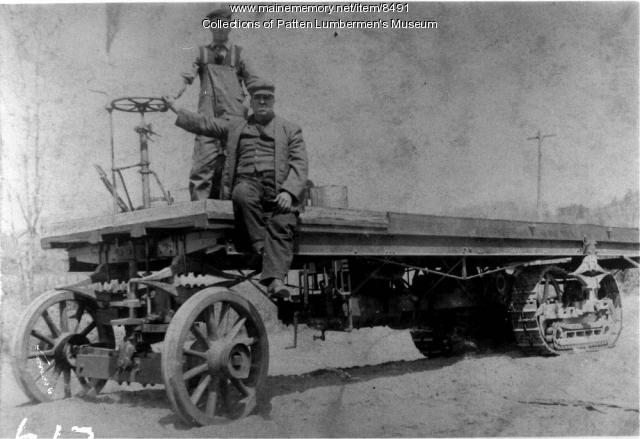A.O. Lombard flatbed, Maine woods