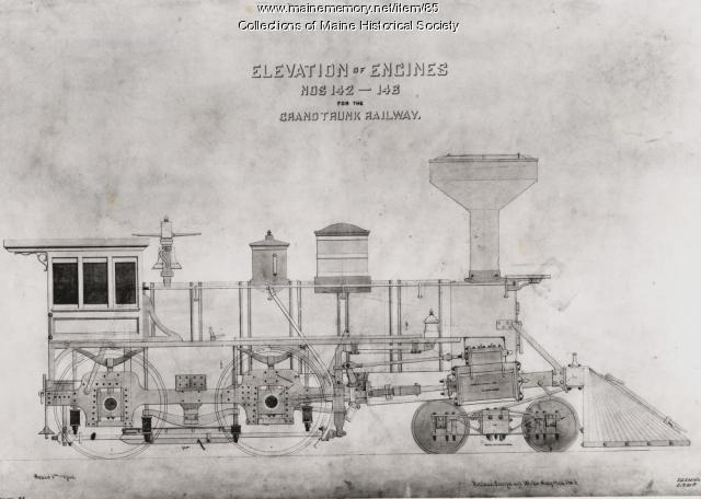 Portland Company engine, Portland, 1868