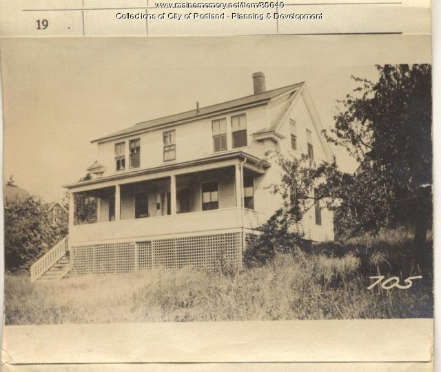 Hadlock property, Rear N. Side Maple Street, Peaks Island, Portland, 1924