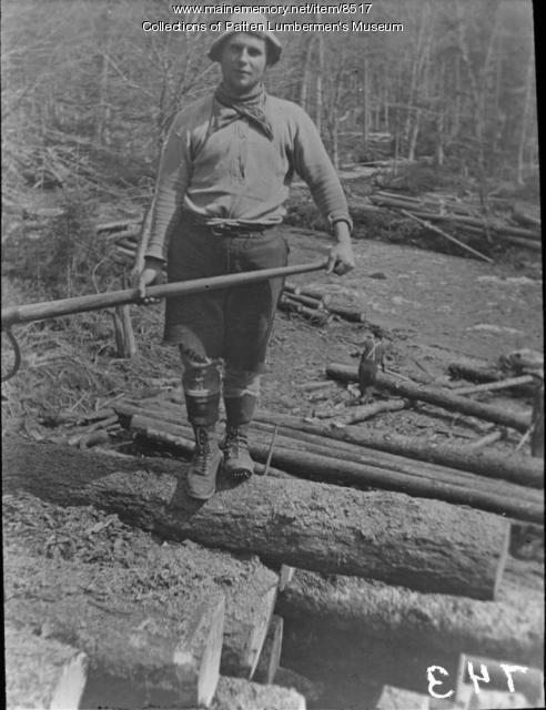 Peavey man, Maine woods
