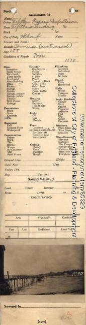 Trefethen-Evergreen Improvement Association  property, Trefethen's Landing Wharf, Peaks Island, Portland, 1924
