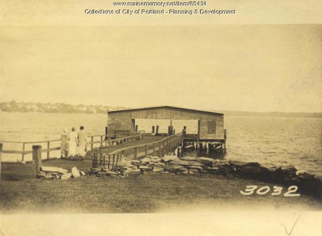 Casco Bay Lines property, Fessenden Avenue, Little Diamond Island, Portland, 1924
