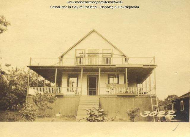 Payne property, Sorrento Road, Little Diamond Island, Portland, 1924