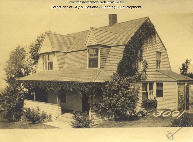 Rice property, Sunset Avenue, Great Diamond Island, Portland, 1924