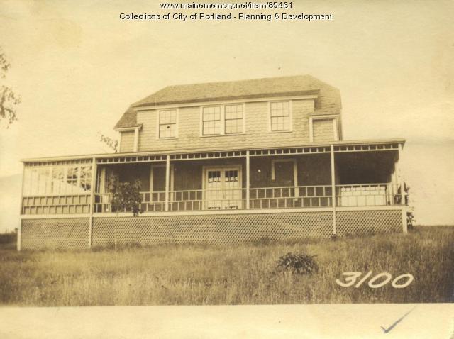 Rice property, Bay Avenue, Great Diamond Island, Portland, 1924