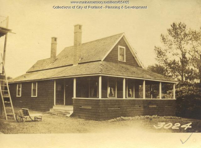 Allan property, Sorrento Road, Little Diamond Island, Portland, 1924