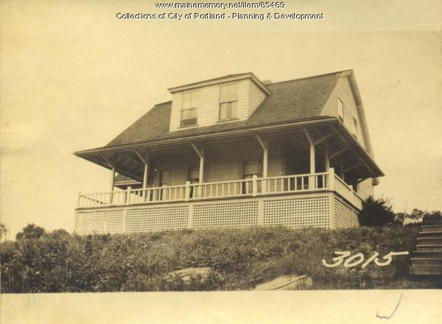 Eckman property, City View Avenue, Little Diamond Island, Portland, 1924