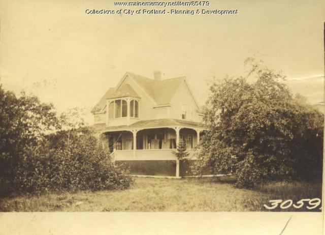 Moody property, N. side Spring Avenue, Great Diamond Island, Portland, 1924