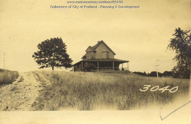 Mills property, Sunset Avenue, Great Diamond Island, Portland, 1924