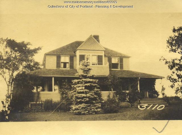 Moody property, Crescent Avenue, Great Diamond Island, Portland, 1924