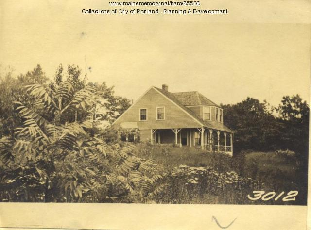 Chamberlain property, Birchwood Road, Little Diamond Island, Portland, 1924