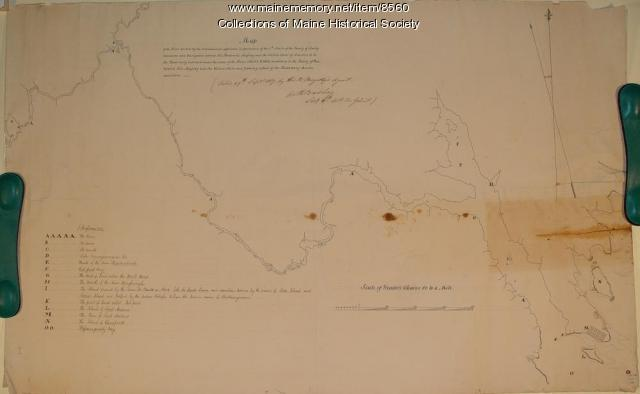 Map of St. Croix River area, 1817