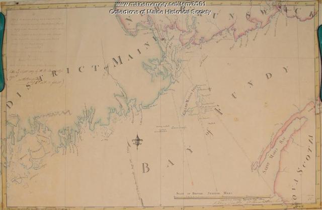 Passamaquoddy Bay, Grand Manan map, 1817