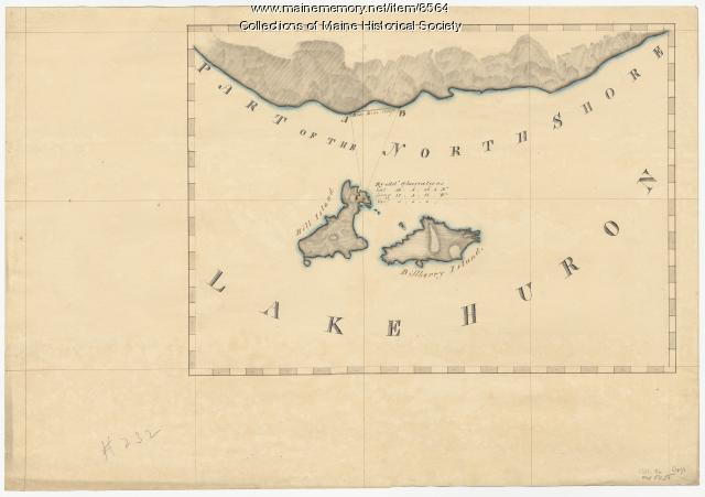 North shore, Lake Huron, ca. 1819