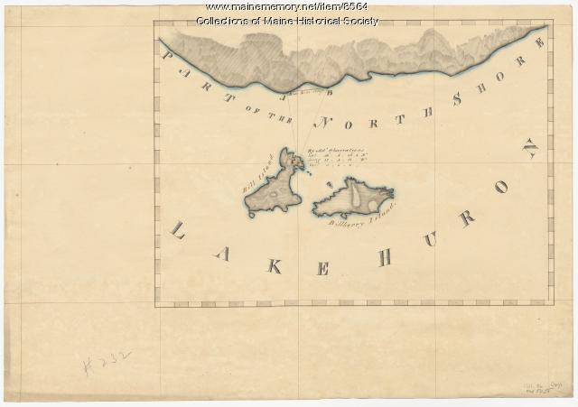 North shore, Lake Huron, ca. 1819