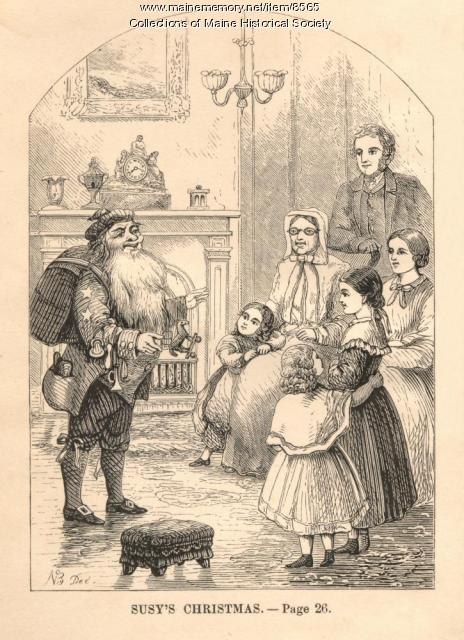 Susy's Christmas illustration, 1865