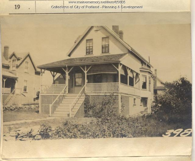 Cutter property, Meridian & Orchard Streets, Peaks Island, Portland, 1924