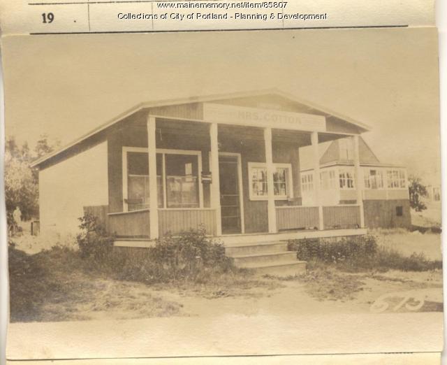 Cotton property, N. Side Maple Street, Peaks Island, Portland, 1924