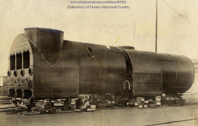 Twin marine boilers, Portland Company, ca. 1895