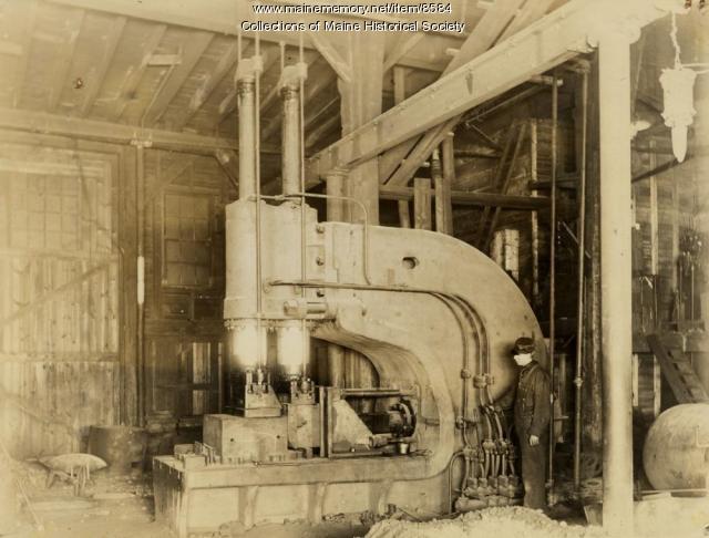 Flanging machine, Portland Company, ca. 1900