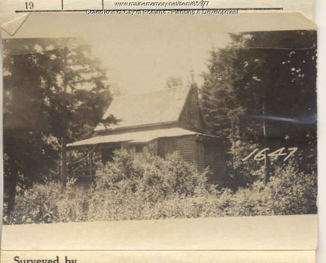 Sanford property, Arbutus Avenue, Peaks Island, Portland, 1924