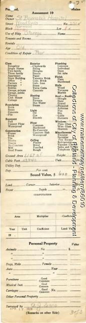 Assessor's Record, 231 Woodford Street, Portland, 1924