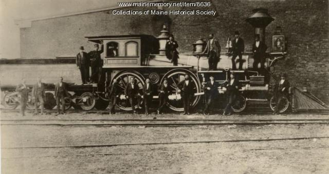 Locomotive, Portland Company, ca. 1875
