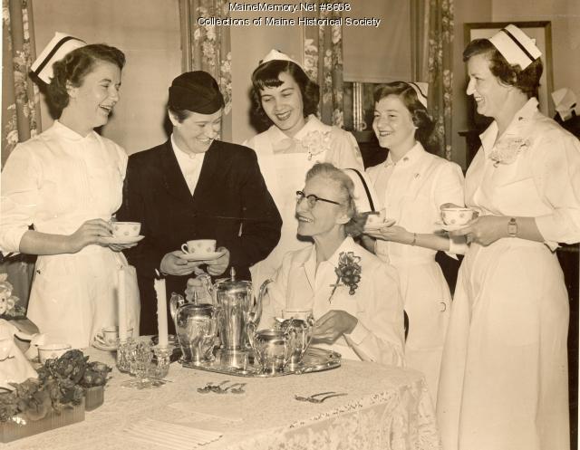 Nurses' tea, Portland, 1954