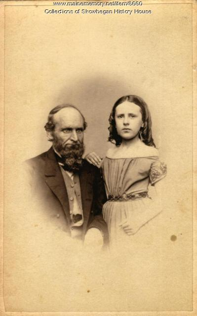 Stephen and Louise Coburn, Skowhegan, ca. 1865