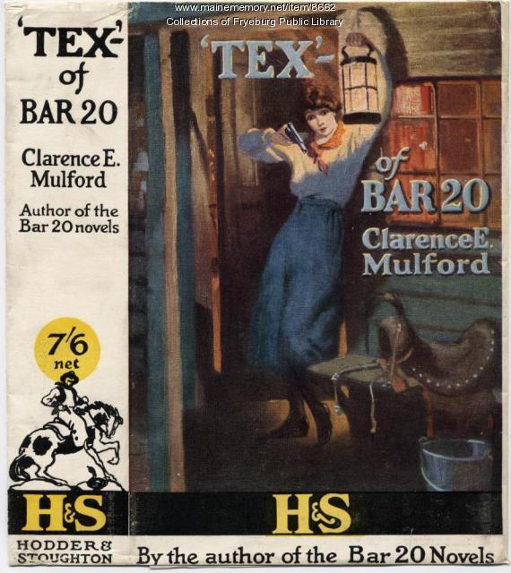 Tex- of Bar 20 book jacket, 1922