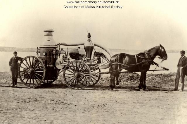 Casco No. 5 fire engine, Portland, 1866
