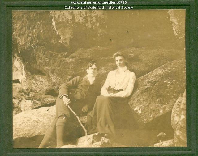 Lyde and Fred Johnson, Waterford, ca. 1910