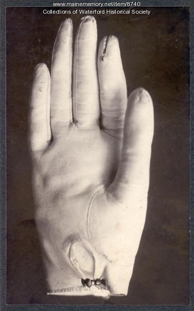 Glove of Artemus Ward, ca. 1862