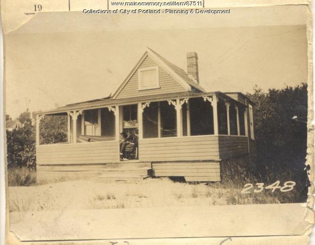 Dougher property, Twin Beach, Long Island, Portland, 1924
