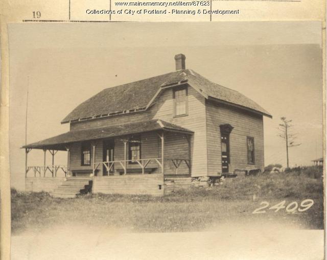 7th Maine Regiment  property, West End, Long Island, Portland, 1924